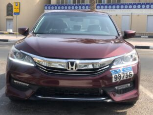 Honda Accord 2016 model, imported from USA, in excellent condition for sale.