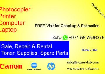 0557536375 Computer Photocopier Printer Repair in Dubai